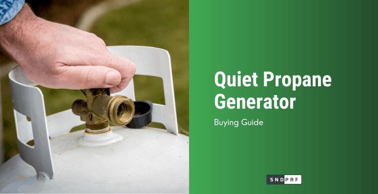 Quiet Propane Generator